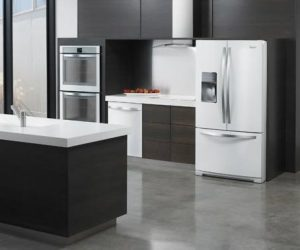 white ice kitchen appliances